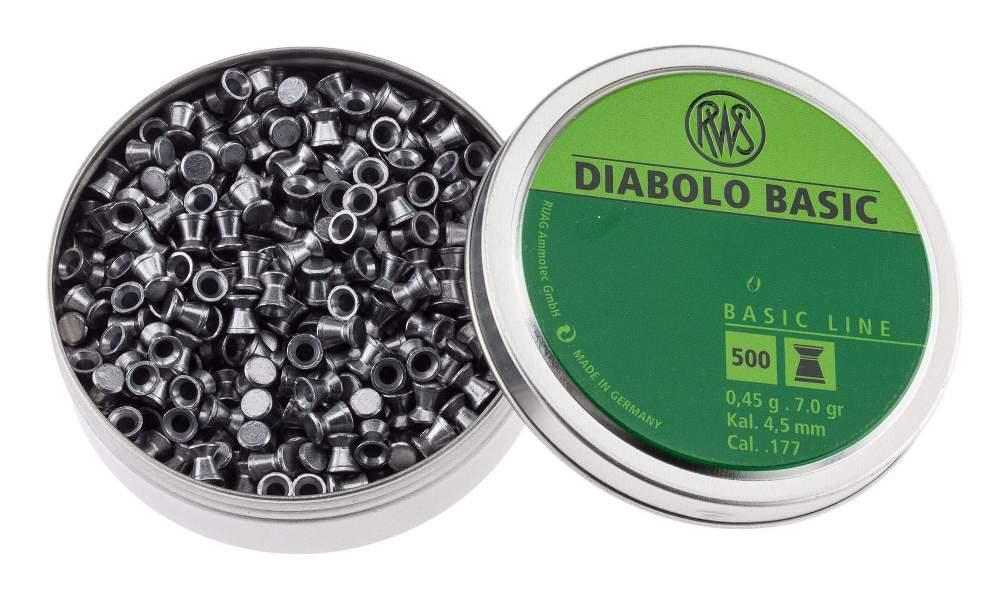 Пули пневматические rws diablo basic 4,5 мм 0,45 грамм (500 шт)