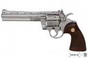 ММГ макет Револьвер Кольт Питон 357 6 дюймов ХРОМ, DENIX DE-6304