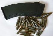 Магазин учебный АК-74, в комплекте с 30шт патронами 5,45х39 (цвет слива)