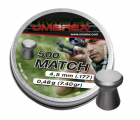 Пуля пневм. Umarex Match 0.48 г, 4.5 мм (500 шт), гладкая юбка