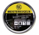 Пули пневм. RWS Meisterkugeln Rifle 4.5 мм, 0.53г (500шт)